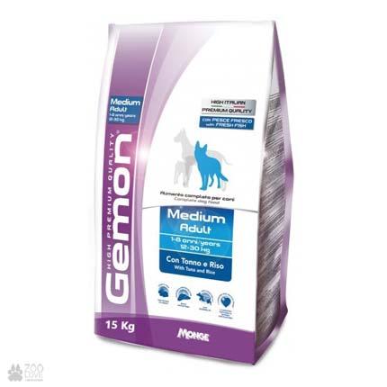 корм для собак средних пород Gemon Dog Medium Adult Tuna Rice