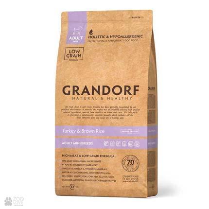 Cухой холистик корм для собак Grandorf Turkey & Brown Rice Adult All Breeds