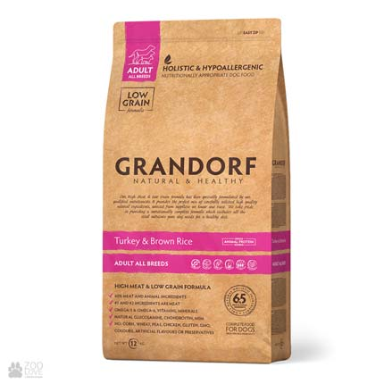 Сухой корм для собак Grandorf Turkey & Brown Rice Adult All Breeds с индейкой