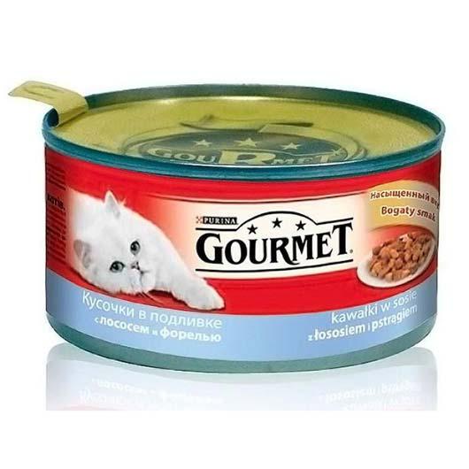 Gourmet для кошек с форелью, лососем, 195