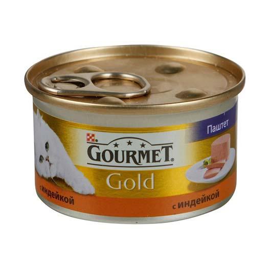 Gourmet Gold для кошек с индейкой. Мусс, 85
