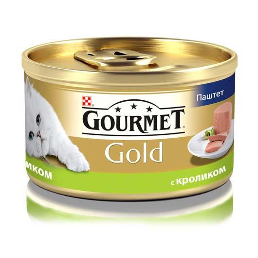 Gourmet Gold для кошек с кроликом. Паштет, 85 г (старый дизайн)