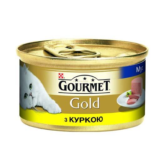 Gourmet Gold для кошек с курицей. Мусс, 85 гр (старый дизайн)