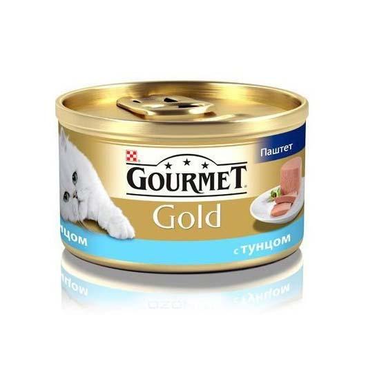 Gourmet Gold для кошек с тунцем. Мусс, 85 (старый дизайн)