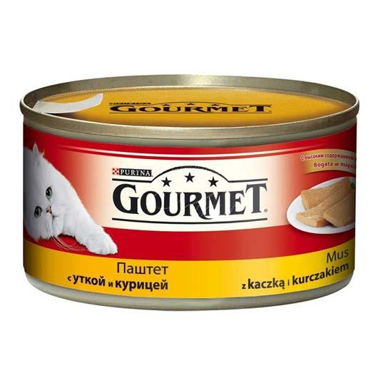 Gourmet для кошек с уткой, курицей. Паштет, 195