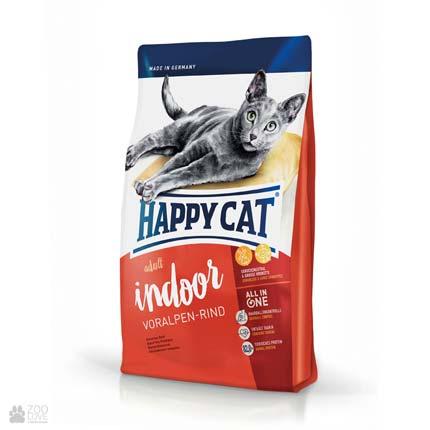 Happy Cat Adult Indoor Voralpen-Rind, сухой корм для кошек? живущих в помещении