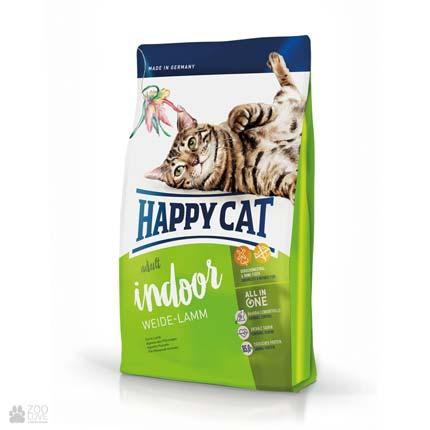 Happy Cat Adult Indoor Weide-Lamm, сухой корм для домашних кошек