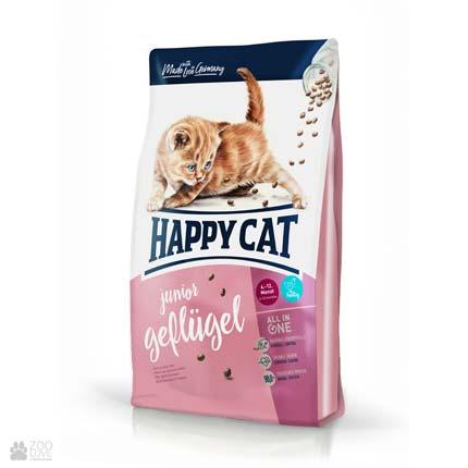 Happy Cat Junior Geflugell, сухой корм для котят в возрасте до 12 месяцев