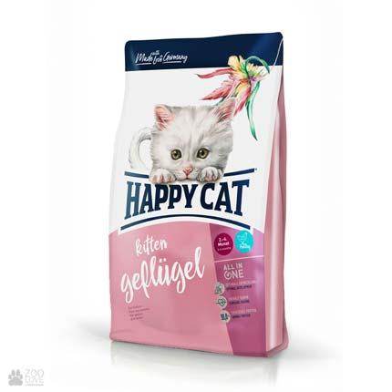 Happy Cat Kitten Geflugell, сухой корм для котят в возрасте от пяти недель до 6 месяцев