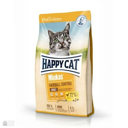 Happy Cat Minkas Hairball Control Geflugel, корм для выведения шерсти у кошек