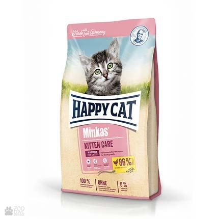 Happy Cat Minkas Kitten Geflugel, сухой корм для котят в возрасте от четырех недель до 6 месяцев