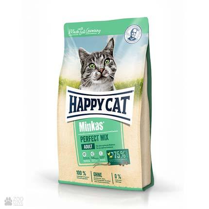 Happy Cat Minkas Perfect Mix, корм для выведения шерсти у кошек