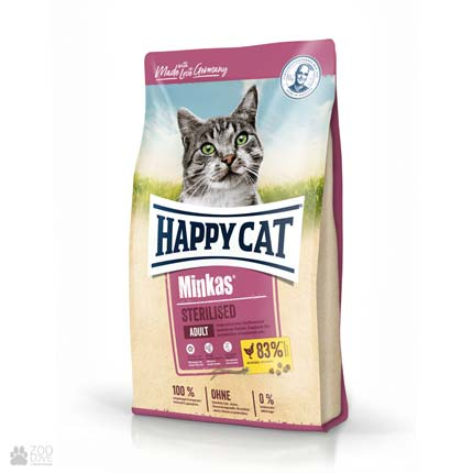 Happy Cat Minkas Sterilised Care Geflugel, сухой корм для стерилизованных кошек