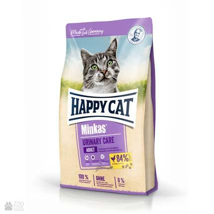Happy Cat Minkas Urinary Care Geflugel, сухой корм для кошек для профилактики мочекаменной болезни