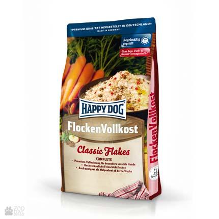 Happy Dog Flocken Vollkost, корм для взрослых собак и щенков