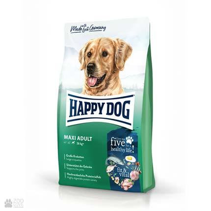 Happy Dog Maxi Adult Fit & Vital, корм для щенков с ягненком и рисом