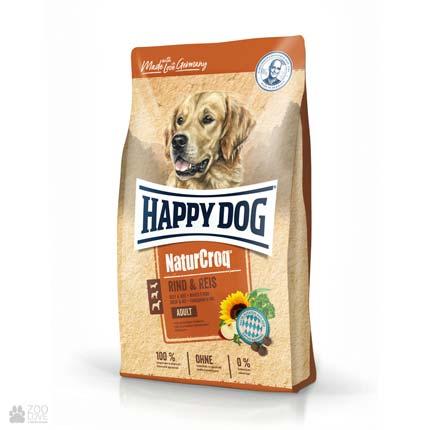 Happy Dog Naturcroq Rind & Reis, корм для привередливых собак
