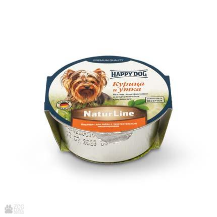 Happy Dog NaturLine НuhnEnte, консерви для собак, паштет з куркою та качкою