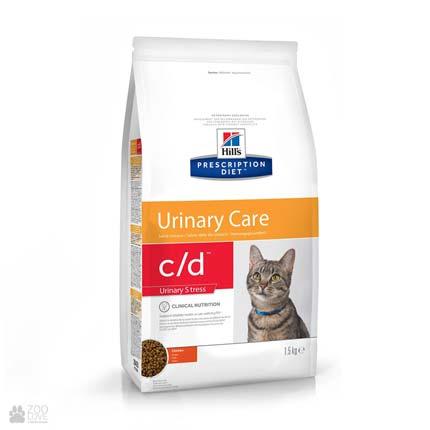 Лечебный корм Хиллс для кошек с заболеваниями мочевыводящих путей Hill's Prescription Diet c/d Multicare Urinary Stress Chicken
