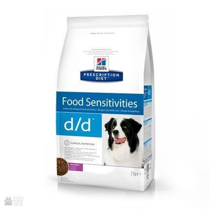 Сухой лечебный корм для собак с пищевой аллергией Хиллс Hill's Prescription Diet Canine d/d Allergy & Skin Care, Duck