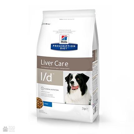 Сухой лечебный корм для собак с болезнями суставов Хиллс Hill's Prescription Diet Canine l/d Liver Care
