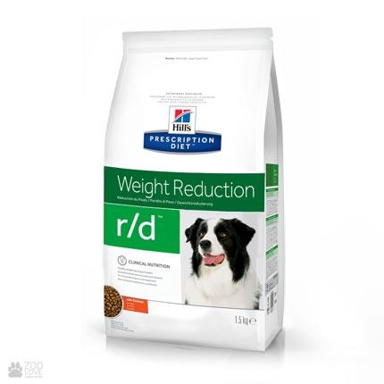 Сухой лечебный корм для собак с избыточным весом Хиллс Hill's Prescription Diet Canine r/d Weight Reduction