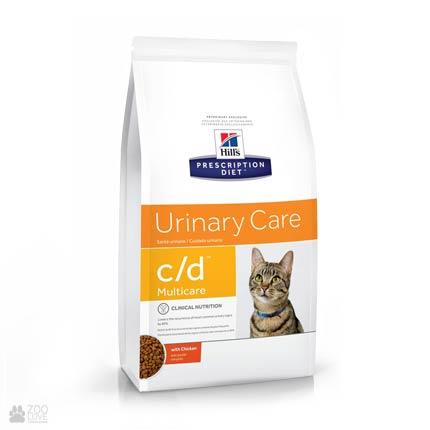 Лечебный корм Хиллс для кошек с заболеваниями мочевыводящих путей Hill's Prescription Diet c/d Multicare Urinary Care Chicken