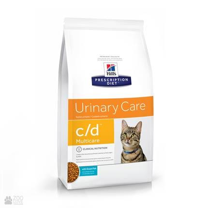 Лечебный корм Хиллс для кошек с заболеваниями мочевыводящих путей Hill's Prescription Diet c/d Multicare Urinary Care Ocean Fish