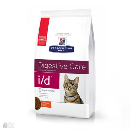 Лечебный корм Хиллс для кошек с заболеваниями ЖКТHill's Prescription Diet i/d Digestive Care Chicken
