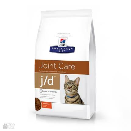 Лечебный корм Хиллс для кошек с проблемами суставов Hill's Prescription Diet j/d Joint Care Chicken