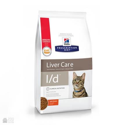 Лечебный корм Хиллс для кошек с болезнями почек Hill's Prescription Diet l/d Liver Care Care Chicken