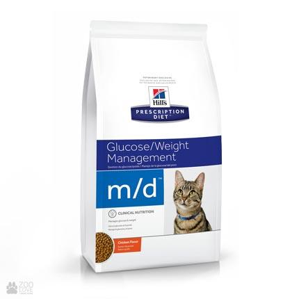 Лечебный корм Хиллс для кошек с диабетом Hill's Prescription Diet  m/d Diabetes/Weight Management Chicken