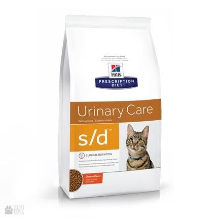 Лечебный корм Хиллс для кошек с заболеваниями мочевыводящих путей Hill's Prescription Diet s/d Urinary Care Chicken