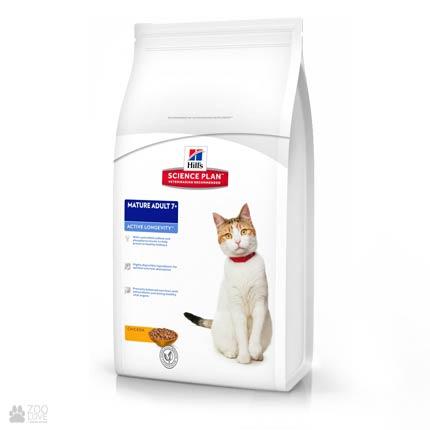 Корм для кошек старше 7 лет Hill's Science Plan Feline Mature Adul 7+ с мясом курицы