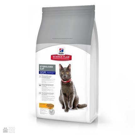 Корм сухой для пожилых стерилизованных кошек Hills Science Plan Sterilised Cat Mature Adult 7+