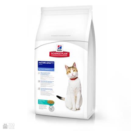 Корм Хиллс для пожилых кошек с тунцом Hill's Science Plan Feline Senior with tuna