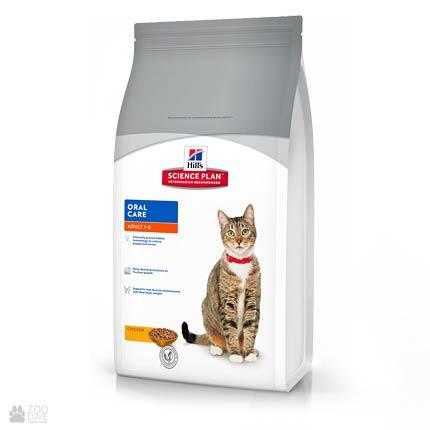 Корм для кошек Hill's Science Plan Feline Oral Care для профилактики зубного налета