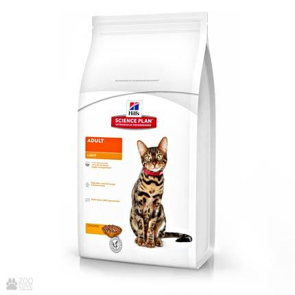 корм для кошек для поддержки и снижения веса Hill's Science Plan Feline Adult Light