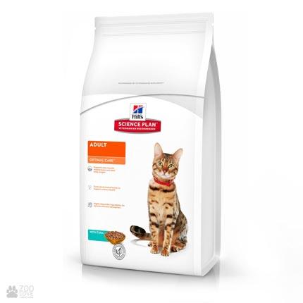 корм для кошек Hill's Science Plan Feline Adult Optimal Care с тунцом