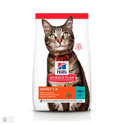 корм для кошек Hill's Science Plan Feline Adult Optimal Care с тунцом (дизайн с 2020 года)