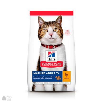 Корм для кошек старше 7 лет Hill's Science Plan Feline Mature Adul 7+ (дизайн с 2020 года)