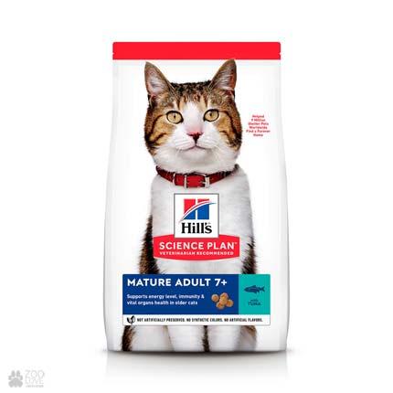 Корм Хиллс для пожилых кошек с тунцом Hill's Science Plan Feline Senior with tuna (дизайн с 2020 года)