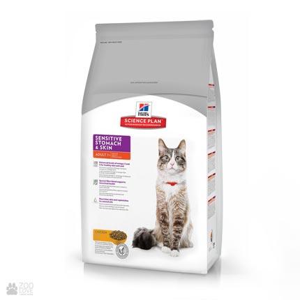 Корм для кошек Хиллс Hills Science Plan Feline Sensitive Stomach & Skin