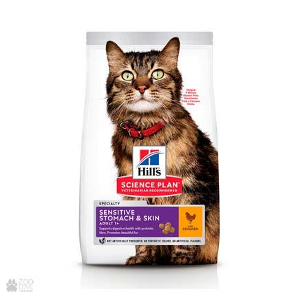 Корм для кошек Хиллс Hills Science Plan Feline Sensitive Stomach & Skin (дизайн с 2020 года)