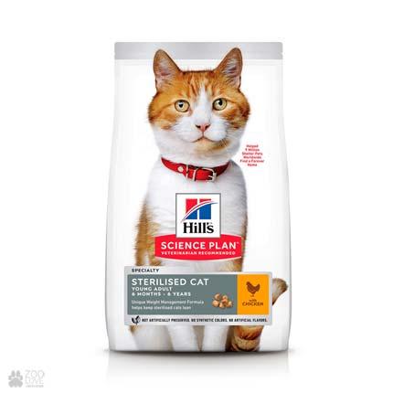 Корм для стерилизованных кошек Hills Sterilised Cat Young Adult (упаковка с 2020 года)