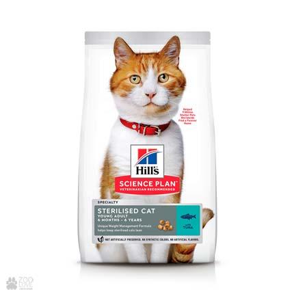Корм для кошек Hills Young Adult Sterilised (дизайн с 2020 года)