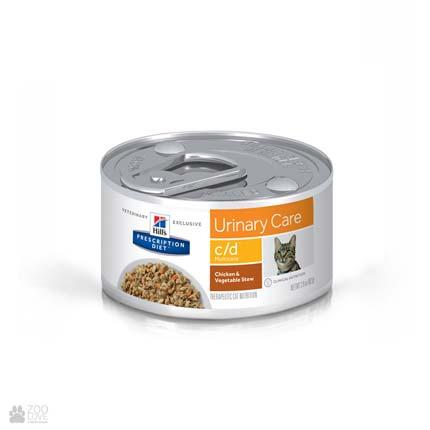 Лечебные консервы Хиллс для кошек с заболеваниями мочевыводящих путей Hill's Prescription Diet c/d Multicare Urinary Care Chicken
