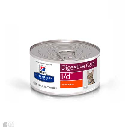 Лечебные консервы Хиллс для кошек с заболеваниями ЖКТHill's Prescription Diet i/d Digestive Care Chicken