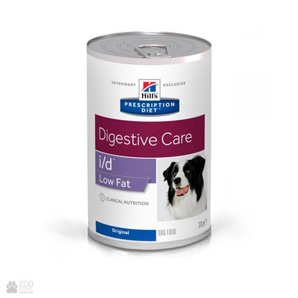 Лечебный корм для собак с болезнями ЖКТ Хиллс Hill's Prescription Diet Canine i/d Digestive Care Low Fat