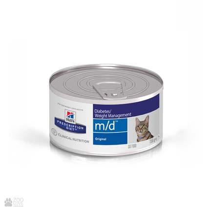 Лечебные консервы Хиллс для кошек с диабетом Hill's Prescription Diet m/d Diabetes/Weight Management Chicken